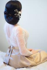 Unrecognizible bride, back