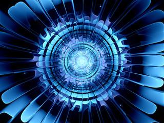 Futuristic blue new technology
