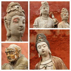 group of images with  Buddhist gods