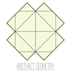 Abstract geometric figure with square