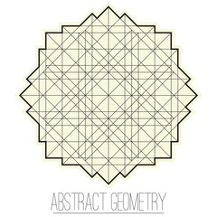 Abstract geometric figure with square, rhombus
