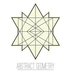 Abstract geometric figure with rhombus, triangle
