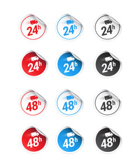 24h & 48h Delivery Stickers