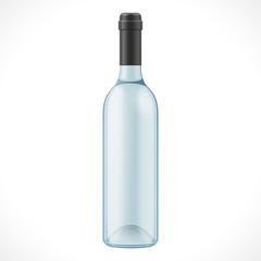 Blue Glass Wine Cider Bottle