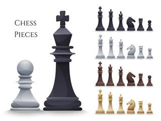 Vector Chess Figures big set