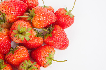 strawberry on white paper background