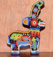 Handicraft huichol art
