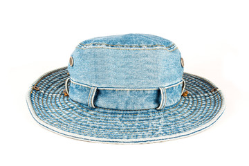 Stylish Denim hat isolated over white