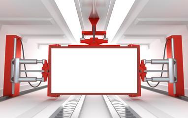 Industrial blank billboard