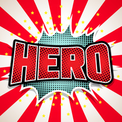 Hero Comic Speech  Bubble. Vector illustration