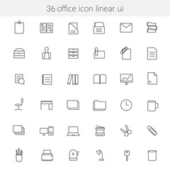 Office icon linear ui