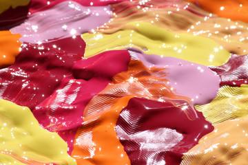 Peinture éclatante aux couleurs vives