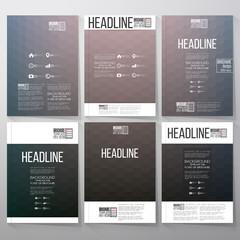 Abstract blurred hexagonal backgrounds. Brochure, flyer or