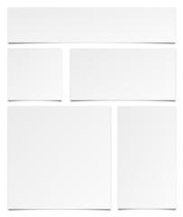 Zettel Set weiß
