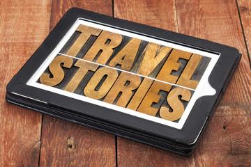 travel stories typography