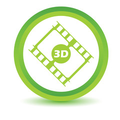 Green 3d film icon