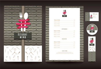 Restaurant or cafe menu vector design template vintage style