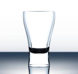 Empty vector beer glass