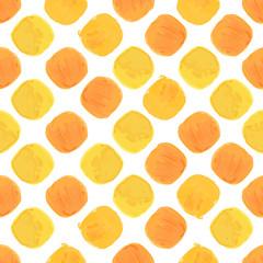Summer Vector Watercolor Seamless Pattern