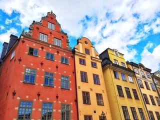 Colorful buildings in Gamla Stan, Stockholm
