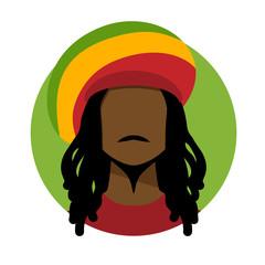 Rastafarian man.