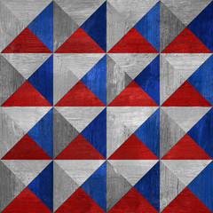 Pyramidal pattern - seamless background - red-blue colors