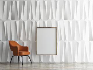mock up poster, empty interior design, 3d illustration