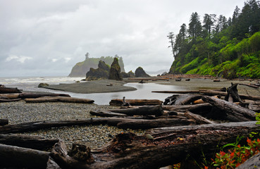 Ruby Beach in the Olympic National Park in Washington state.
