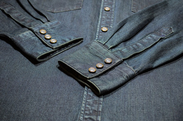 Denim Shirt Detail.