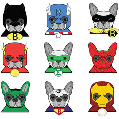 French bulldog  Dog Superheros