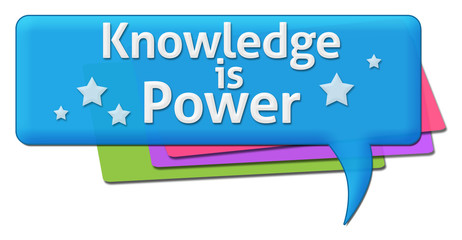 Knowledge Is Power Colorful Comment Symbols