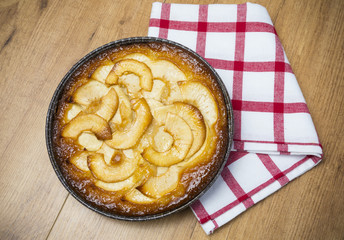 Manzana en pastel