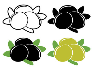 Olives vector set