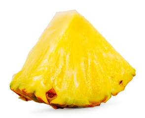 Quartered ripe pineapple