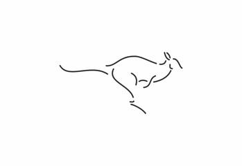 silhouette of a kangoro template, logo, icon