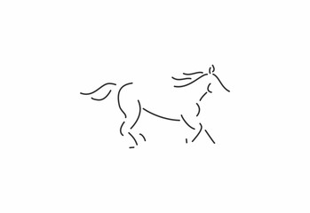 horse logo icont template
