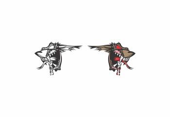wolf head logo mascot