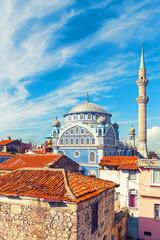 Deurstickers Turkije Fatih Camii (Esrefpasa) old mosque in old part of Izmir