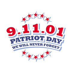 patriot day september 11 2001 logo