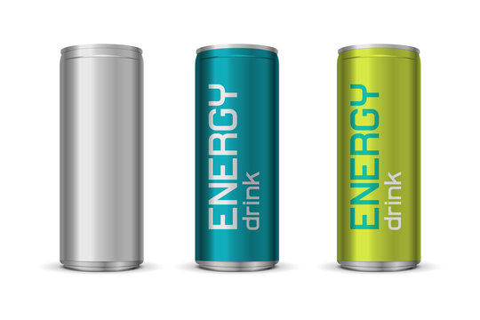 Vector illustration of energy drink cans