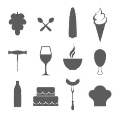 Food. Icon set