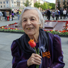 MAY 9: Old veterans women of  WWII