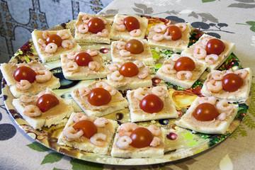 Gamberetti e pomodorini antipasto