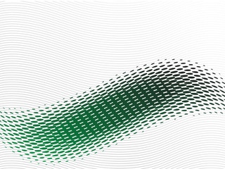 Abstract green wave with halftone