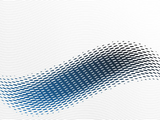 Abstract blue wave with halftone