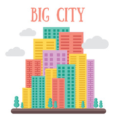 Skyline. Big city concept. Creative flat vector illustration.