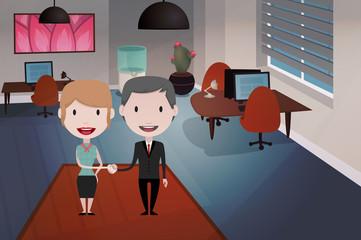 office people illustration: handshake
