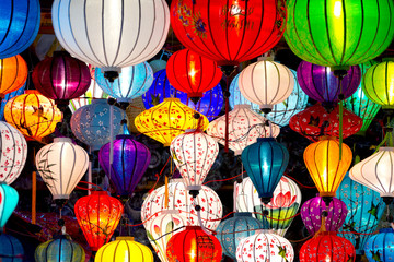 Traditional lamps in Old Town Hoi An, Vietnam.