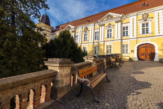 park near ancient monastery