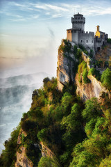 San Marino castle sunset view